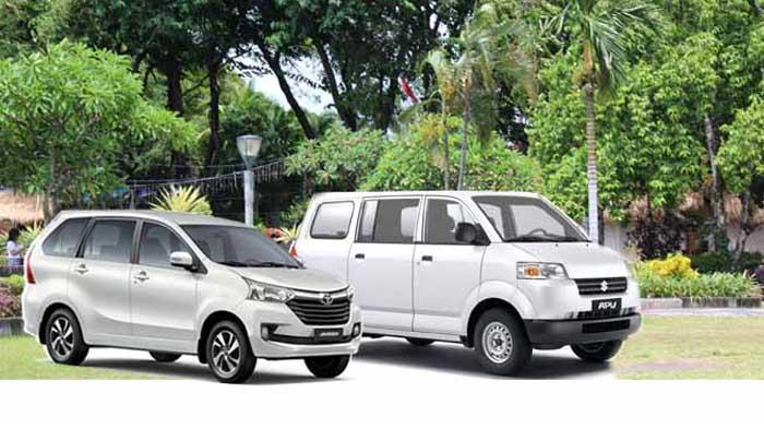 Ilustrasi kendaraan sewa di Bali