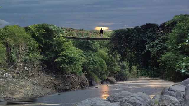 Ilustrasi Jembatan gantung.