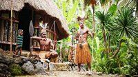 Ilustrasi Kesenian Tradisional Papua di Taman Nusa
