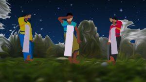 Ilustrasi aktivitas 'menari malam'