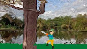Menebang pohon angker